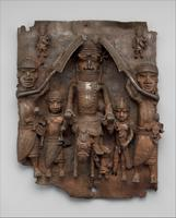 Oba équestre et sa suite (bas-relief de cuivre, Bénin, 1550-1680) - Crédits : The Michael C. Rockefeller Memorial Collection, Gift of Nelson . Rockefeller, 1965/The Metroplitan Museum of Art, New York